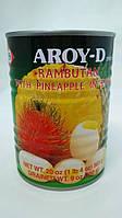 Рамбутан с ананасом в сиропе Aroy-D 565 г, фото 1