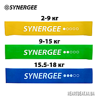 Набор фитнес резинок Mini Band Synergee (2-18 кг, 1-3 уровень)