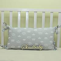Бортики подушки в кроватку, Подушка 30х60 -20