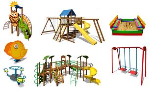 Дитячі майданчики. Ігрові комплекси