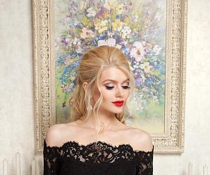 Черное платье – беспроигрышный вариант