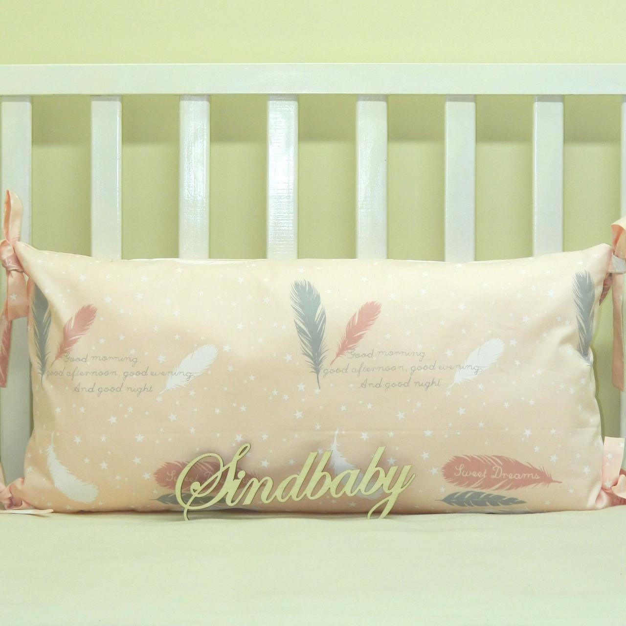 Бортики подушки в кроватку, Подушка сатин 30х60 -06