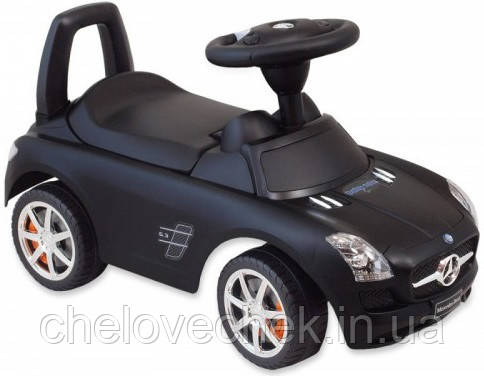 Машинка-каталка Alexis-Babymix Z-332P Mercedes (black) матовая краска