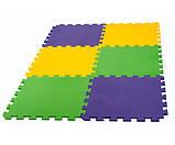 Килимок-пазл, татамі 50х50 см, набір 6 шт., 1,40 м2, т. 10 мм пінополіетилен щільність 50 кг/м3, TERMOIZOL®, фото 2