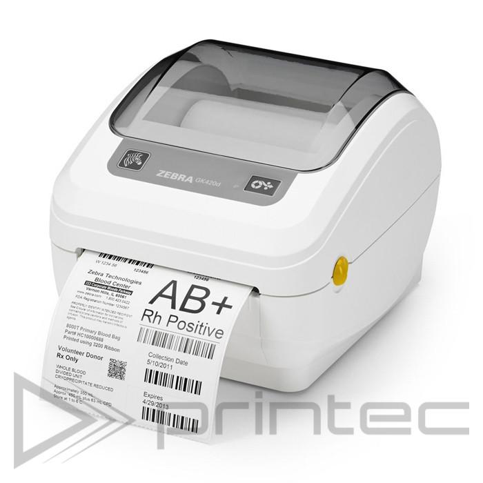 Принтер этикеток Zebra GK420d USB + LAN / Ethernet