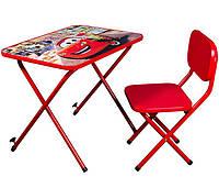 Столик со стульчиком для детей Тачки (Cars) красный