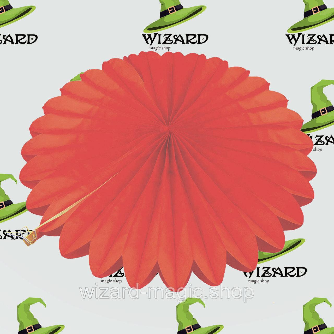 Веерный круг тишью (40см) красный 0007