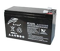Аккумулятор для ИБП 12В 7Ач AGM Ritar RT1270A Black / 12V 7.0Ah / 151х65х100 мм