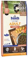 Сухой корм Бош Эдалт (Bosch Adult Salmon&Potato) с лососем и картофелем для средних собак, 15 кг