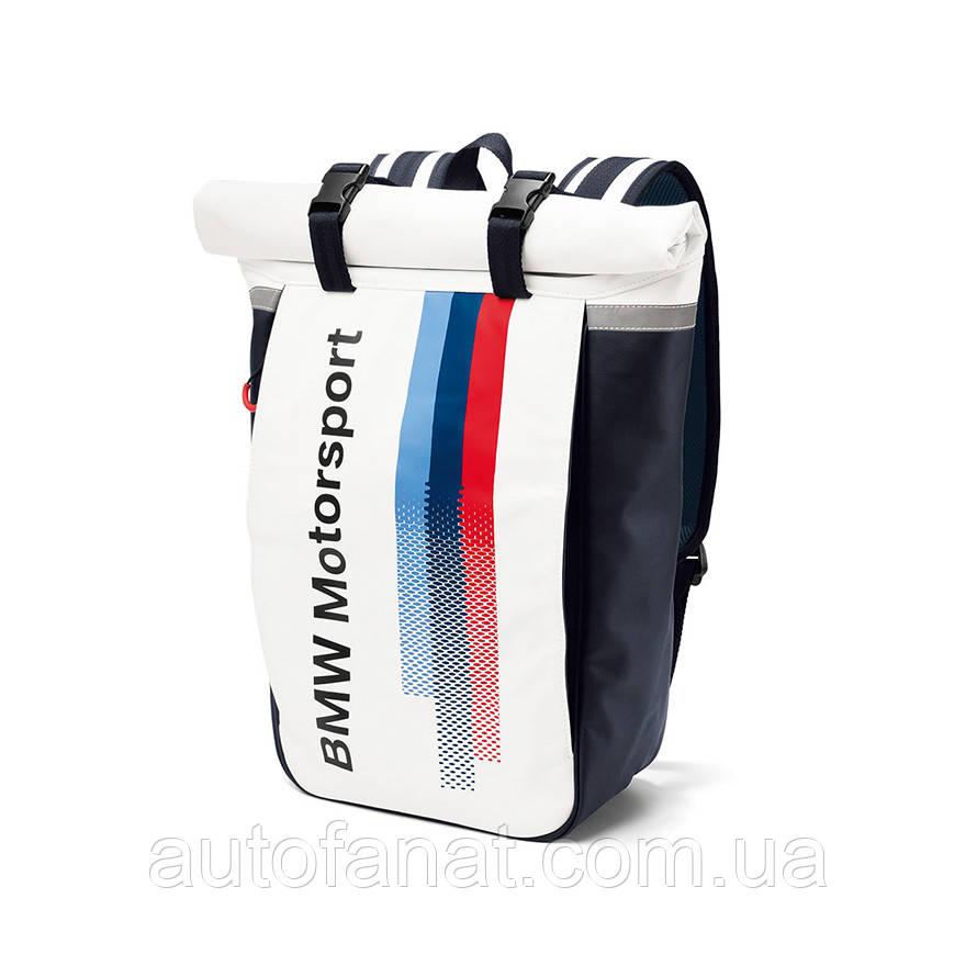 Оригинальный рюкзак BMW Motorsport Rucksack, White/Team Blue (80222446465)