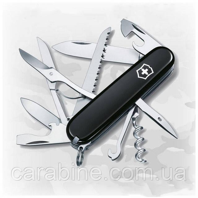 Нож Victorinox Huntsman 1.3713.3 черный, 16 функций