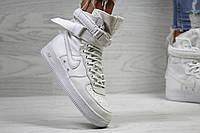 Кроссовки женские Nike Air Force af 1  модные стильные топовые на низком ходу на шнурках (белые), ТОП-реплика, фото 1