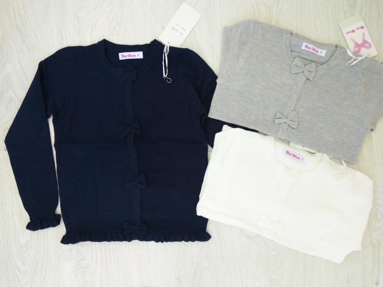 Кофта для девочек , в  составе шерсть, Венгрия ,Nice Wear, рр.4,6,8 лет., арт. GJ-969 ,