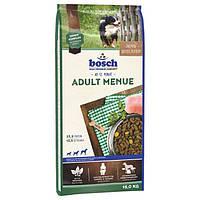 Сухой корм Бош Эдалт Меню (Bosch Adult Menue) смесь мясных и овощных гранул для взрослых собак, 15 кг