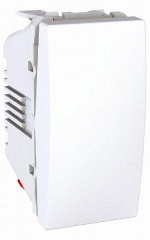 Вимикач кнопковий 1-кл. 1-модуль Unica Білий Schneider Electric