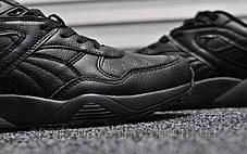 Кроссовки мужские черные Puma Trinomic Triple Black Leather (реплика) , фото 3
