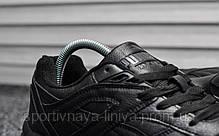 Кроссовки мужские черные Puma Trinomic Triple Black Leather (реплика) , фото 2