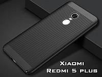 Ультратонкий бампер, чохол-накладка для Xiaomi Redmi 5 plus, колір чорний, фото 1