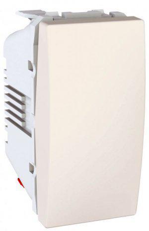 Вимикач кнопковий 1-кл. 1-модуль Unica Слонова кістка  Schneider Electric