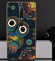 Силиконовый чехол бампер для Nokia 6 2018 с картинкой Совушка