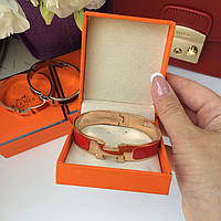 Модный женский браслет Hermes Narrow красный (реплика)