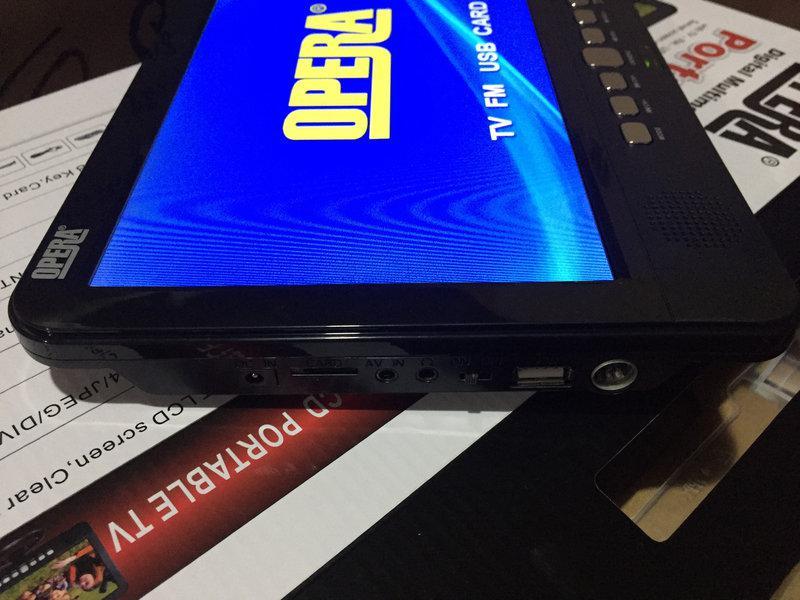 Автотелевизор портативный TV Opera NS-1001 USB+SD (Без батареи) с Т2