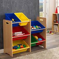 Ящики для игрушек Kidkraft 15470 Plastic Bin Storage Unit - Primary