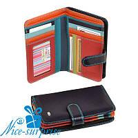 Женский маленький кожаный кошелёк Dr. Bond WRS-3 violet (серия Rainbow), фото 1
