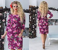 """Платье больших размеров """" Цветы """" Dress Code, фото 1"""