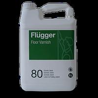 Полиуретан-акриловый мягкий глянц лак на водной основе Flugger для деревянных полов.