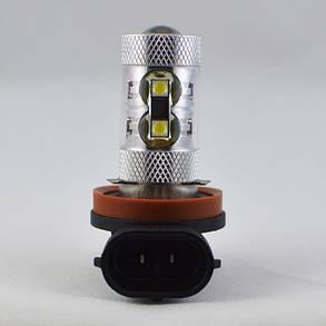 Светодиодная лампа в противотуманные фонари с цоколем H11 Epistar 50W 9-30V 900lm Белый, фото 2