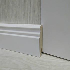 Плинтус МДФ Белый фигурный 18.2х70х2400мм., Pedross Италия