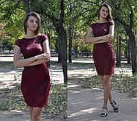 Гипюровое мини платье без рукава