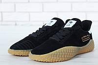 Кроссовки мужские Adidas Kamanda реплика ААА+ (натуральная замша) размер 40-45 черные (живые фото)