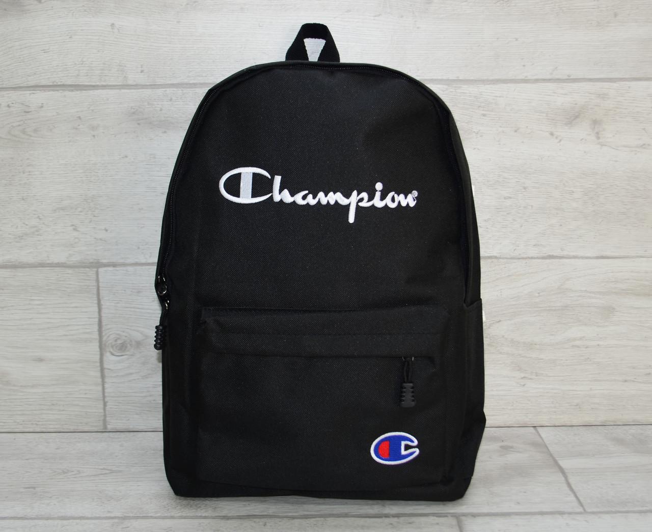 8b730713b8dd Черный рюкзак в стиле Champion, молодежный рюкзак чемпион - Luxe Shop в  Киеве