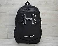 Черный рюкзак в стиле Under Armour, спортивный рюкзак