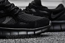 Кроссовки мужские черные Nike Freerun Triple Black (реплика), фото 3