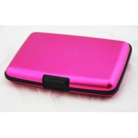 Кошелек визитница кредитница ALUMA WALLET розовый, фото 2