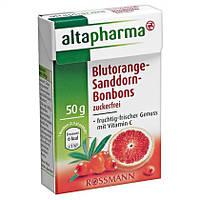 """Altapharma Blutorange-Sanddorn-Bonbons -  Леденцы """"Красный апельсин и Облепиха"""""""