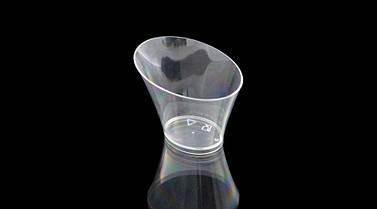 Пиала фуршетная овальная 70 мл., 256 шт/ящ стеклоподобная, прозрачная