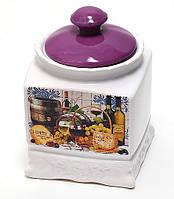 Банка Cheese&Wine 630мл с крышкой для сыпучих продуктов