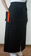 75838 Фартук официанта черный ,Саржа F- 210 .