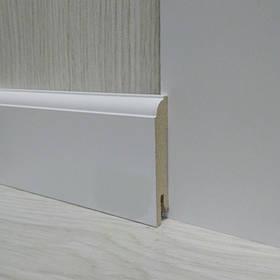 Плінтус МДФ Білий пристінний 14.2х70х2400мм., Pedross Італія