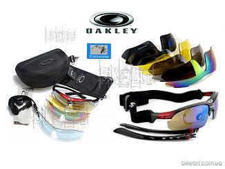 Тактические очки OAKLEY 5 стекол (линз) Цвет: Черный