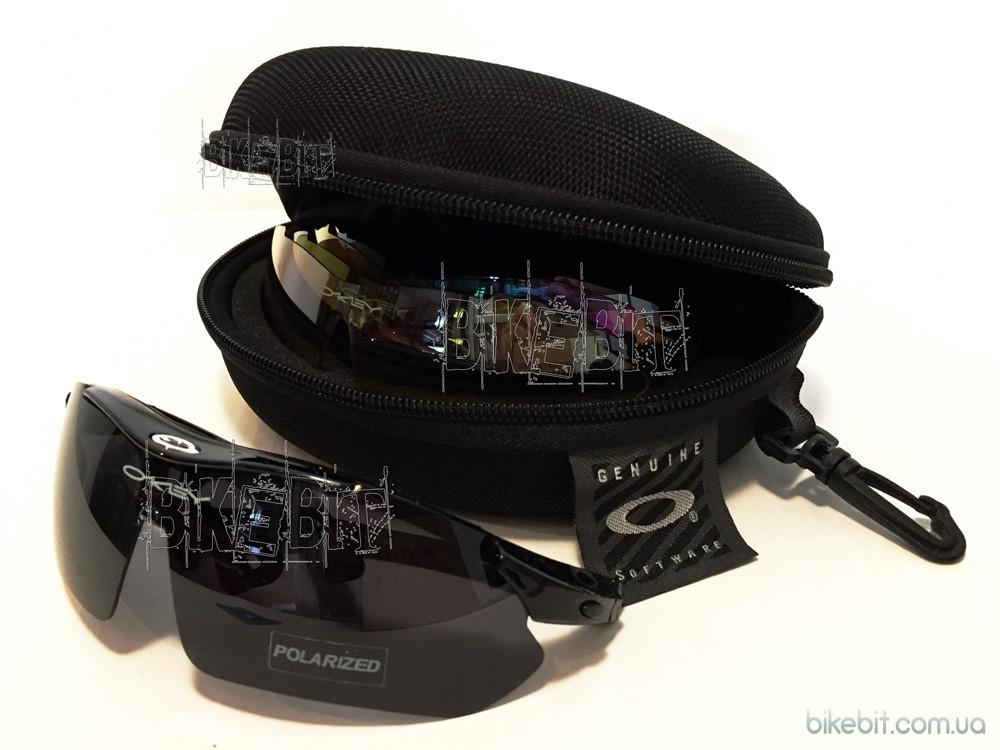 Тактические очки OAKEY 5 стекол (линз) Цвет: Черный