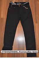 УТЕПЛЁННЫЕ, Котоновые брюки на флисе для мальчиков подростков.ШКОЛА! размеры 146 -176 см.