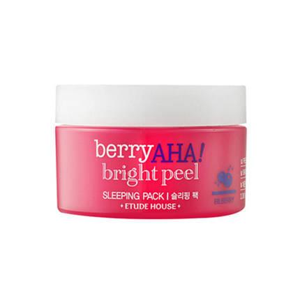 Ночная маска с эффектом пилинга с АНА-кислотами ETUDE HOUSE Berry AHA Bright Peel Sleeping Pack, 100 мл, фото 2