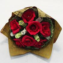 Букет из конфет Розы 15 Крафт