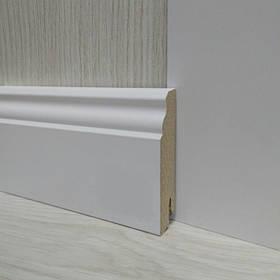 Плинтус МДФ белый фигурный 18х80х2400мм., Pedross Италия