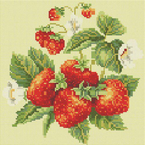 """Мозаичная картина Белоснежка 289-ST-S """"Спелая клубника"""", 30х30 см, на подрамнике"""